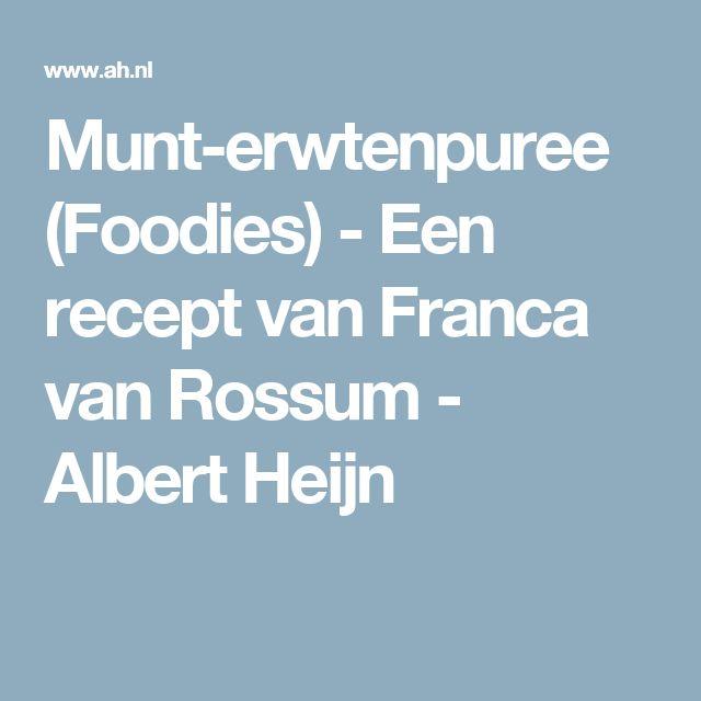 Munt-erwtenpuree (Foodies) - Een recept van Franca van Rossum - Albert Heijn (melk ipv water!)