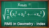Root Mean Square in Geometry. Teaching, School, College, Math Education.