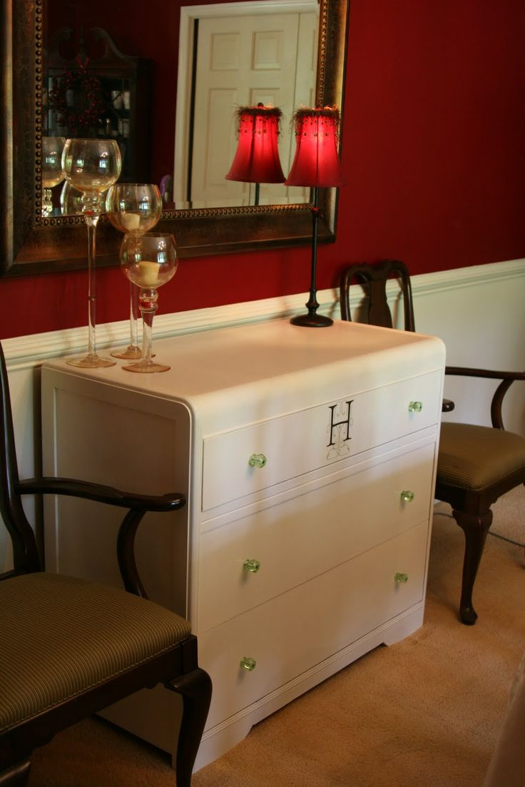 Dresser turned buffet furniture revamp