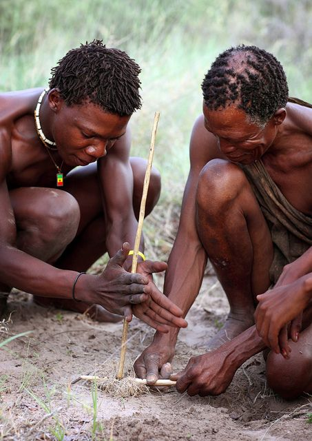 Bushmen, Botswana by Dietmar Temps, via Flickr