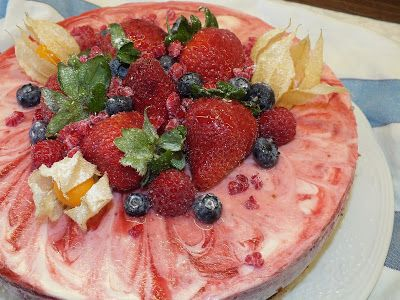 A cozinha do Titó: Cheesecake de Morangos