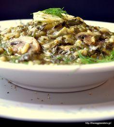 Νηστίσιμη μυρωδάτη μαγειρίτσα με μανιτάρια-Vegan mushroom magiritsa (Greek Easter soup)