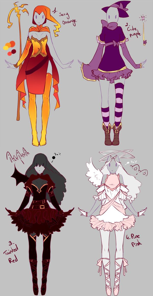 Outfits adopts 2 - Paypal Auction OPEN by rika-dono.deviantart.com on @deviantART