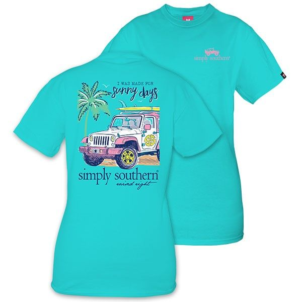Simply Southern® Ladies' Sunny Days Pool Blue T-Shirt Style: SUNNY