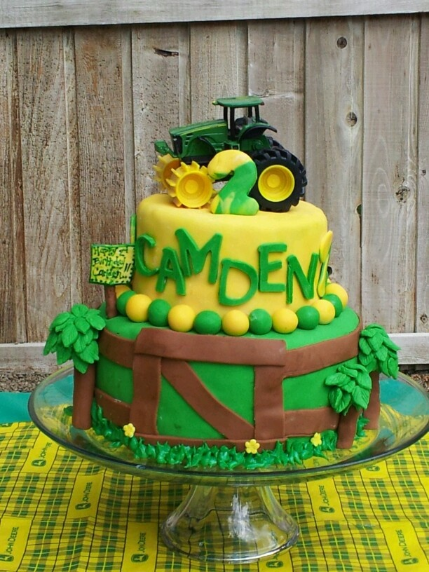The tractor cake I made for Cam's 2nd birthday!