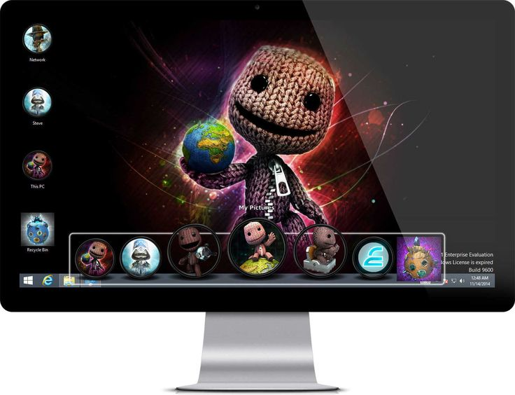 LittleBigPlanet 3 theme with 40+ wallpapers