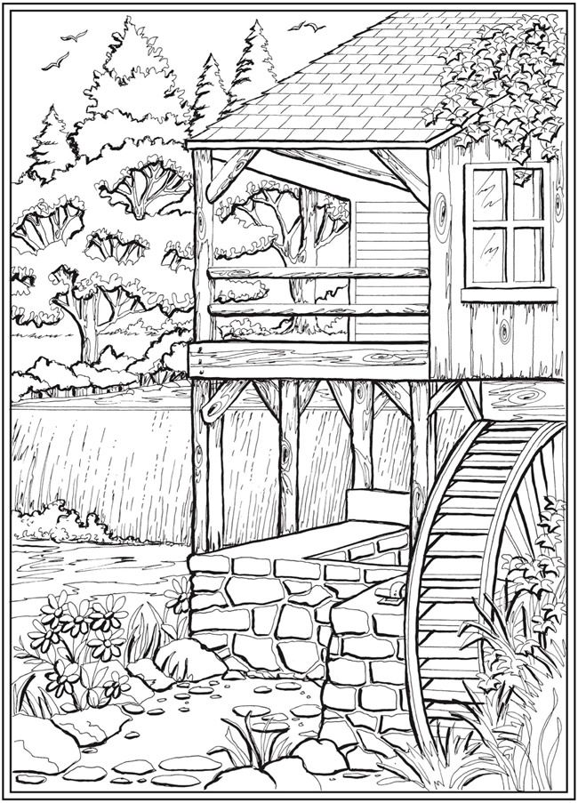 Page 3 of 7 COUNTRY CHARM  a Creative Haven Coloring Book by Teresa Goodridge  Welcome to Dover Publications