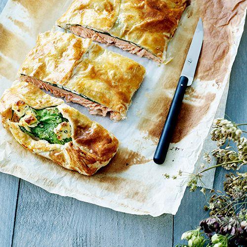 Zalm in bladerdeeg uit de oven - recept - okoko recepten