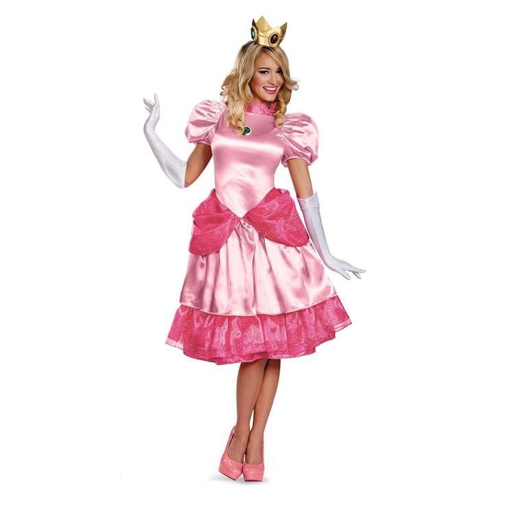 Super Mario Brothers - Deluxe Princess Peach Plus Size Costume | BuyCostumes.com