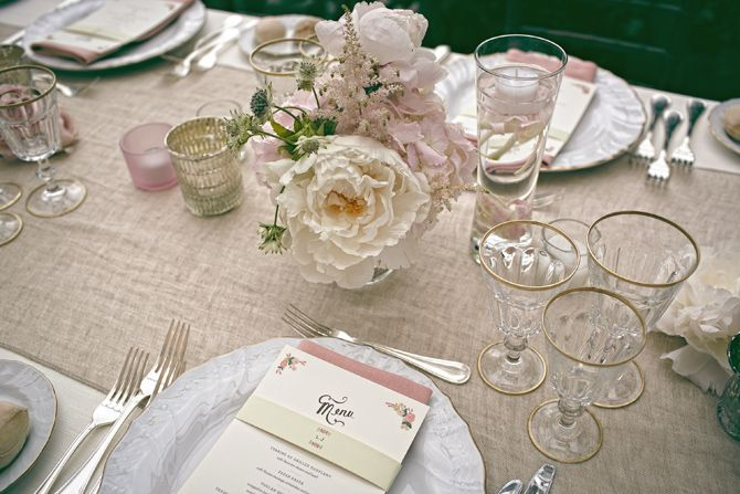 Tuscany Wedding table centerpieces
