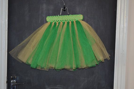 Green and Gold Tutu with Green waistband by MajackalCreations, $20.00