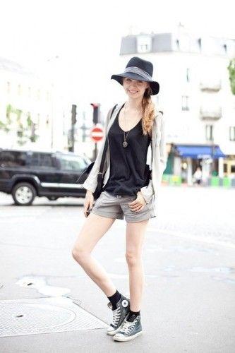 ショートパンツスタイルに合わせて脚長効果にも期待♡ハイカットスニーカーのコーデ☆スタイル・ファッションの参考に!