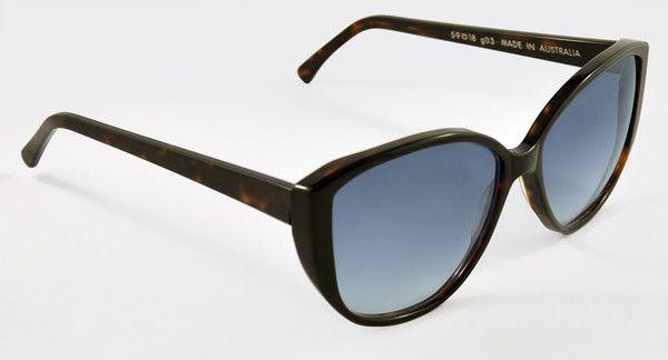 Bronte Sunglasses | Dark Tortoise Shell | Gradient Lens | Glarce
