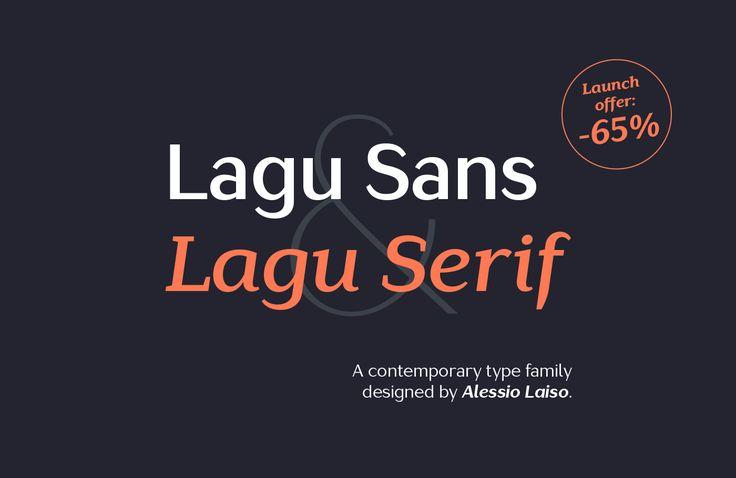 Lagu Sans & Lagu Serif - NEW font family on Behance