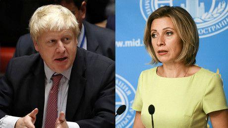 Wake up!  British Foreign Secretary Boris Johnson and Russian Foreign Ministry's spokesperson Maria Zakharova © Reuters / Sputnik