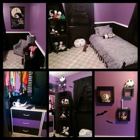 344 Best Bedroom Ideas Images On Pinterest  Halloween Prop Awesome Nightmare Before Christmas Bedroom Decor Design Inspiration