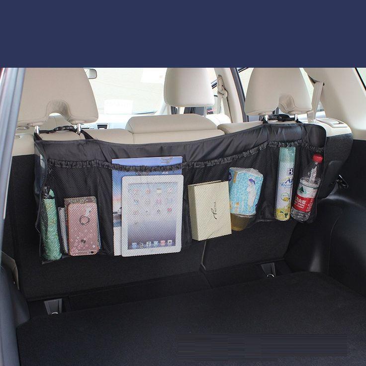 95*32 cm Alargado coche asiento trasero del coche organizador de bolsillo colgando basura estiba ordenar almacenamiento de cosméticos herramientas de coches trunk bag