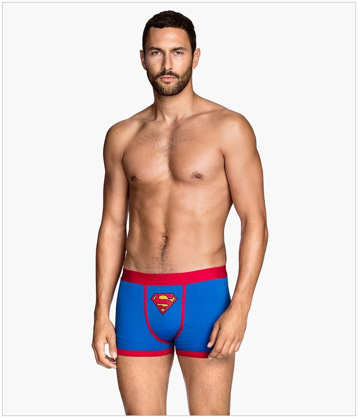 Noah Mills...still managing to look sexy in silly Superman underwear