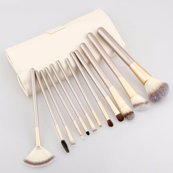 12Pcs Makeup Brush Kits Professional Synthetic Cosmetic Makeup Brush