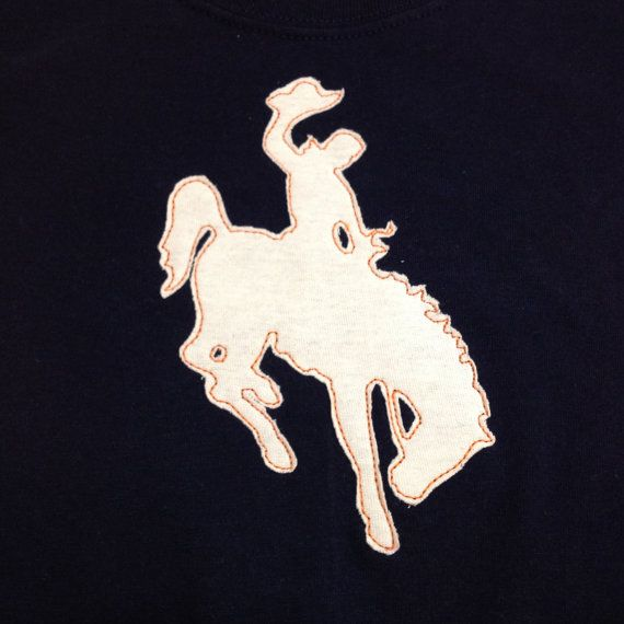 Wyoming Rodeo Cowboy on Bucking Horse State Symbol - Machine Applique Design - 2 Versions: satin stitch and triple stitch - multiple sizes