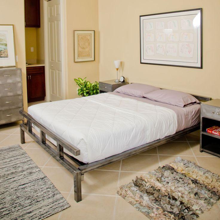 Best Bedroom Dark Brown Painted Teak Wood Low Profile Bed 640 x 480