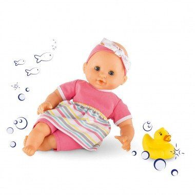 •The Mon Premier Bébé Bath Girl is the perfect playmate to make water play and baths memorable for your child. COROLLE - MON PREMIER Bath Girl Stripped Doll  30cm #corolle #bath #doll #waterplay #toys2learn #preschool #toddler #Australia