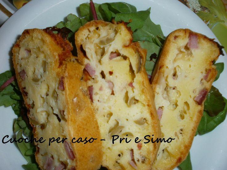 Una deliziosa torta salata con prosciutto e olive, questa è ricetta francese, gustosa ricetta salata dal blog: pri@&simo cuochepercaso
