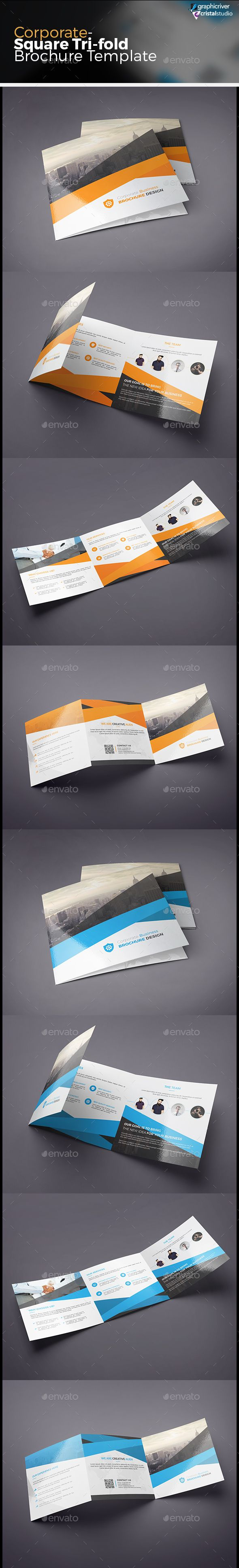 Square Tri-fold Brochure Template #design Download: http://graphicriver.net/item/square-trifold-brochure/13583686?ref=ksioks