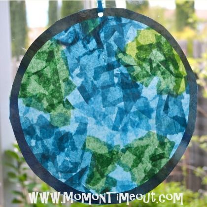 Earth Day Stained Glass Craft for Kids