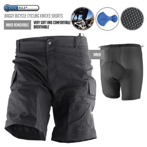 Baggy Bike Bicycle Cycling Knicks Padded Shorts inner removable S - http://ridingjerseys.com/baggy-bike-bicycle-cycling-knicks-padded-shorts-inner-removable-s/