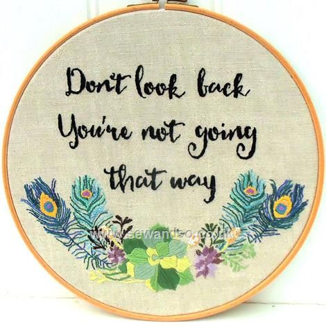 Shop online for Don't Look Back Hoop Embroidery Pattern - DOWNLOAD ONLY at sewandso.co.uk. Browse our great range of cross stitch and needlecraft products, in stock, with great prices and fast delivery.