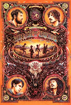 Miles Tsang Avett Brothers Oklahoma City Poster Release... #Arsetculture #Inside_the_Rock_Poster_Frame #Gig_Posters