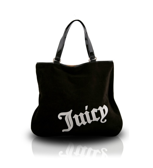 Juicy Couture Velour Black Shopper Bag on glamouronthego.co.uk