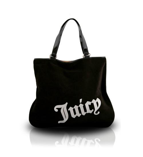 Juicy Couture Velour Black Shopper Bag on glamouronthego.co.uk