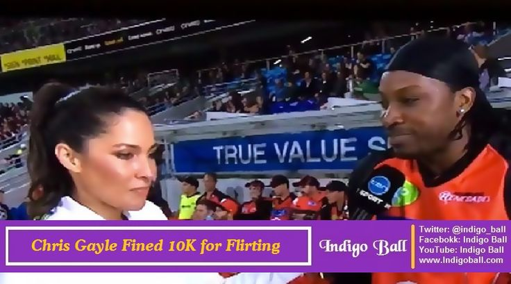 Chris Gayle Fined 10K for Flirting with Mel Mclaughlin - http://www.indigoball.com/2016/01/15/chris-gayle-fined-10k-for-flirting-with-mel-mclaughlin/
