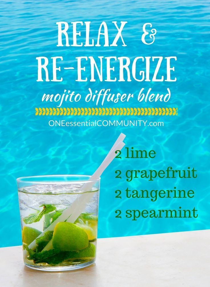 Relax & Re-ENERGIZE mojito essential oil diffuser blend