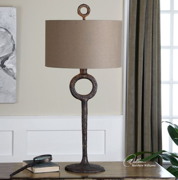 Uttermost Lamps And Lighting Ferro Cast Iron Table Lamp 27663 At Royal Furniture Design In Key West Florida Keys