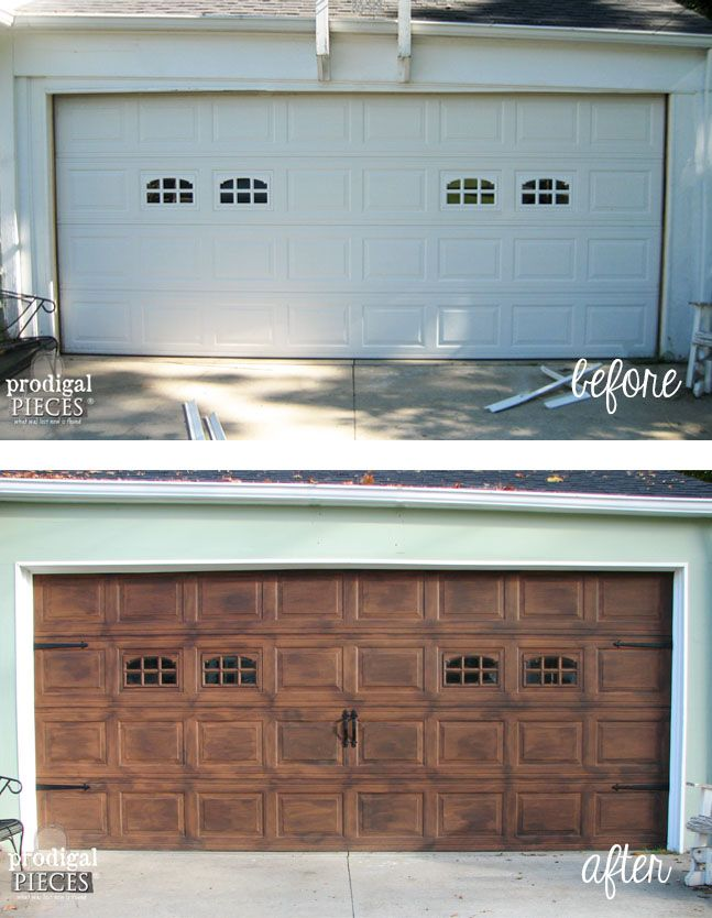 DIY Faux Wood Garage Door Tutorial by Prodigal Pieces www.prodigalpieces.com