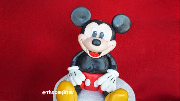 diy how to make mickey mouse cake tutorial
