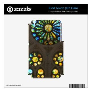 Church Cathedral Christ Wall Stained Glass Deco 99 Skin For iPod Touch 4G