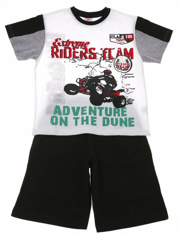 Παιδικά ρούχα AZshop.gr - New College παιδικό σετ μπλούζα-παντελόνι βερμούδα «Riders» €13,50