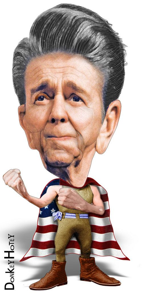 Funny Caricatures of US Presidents: RON