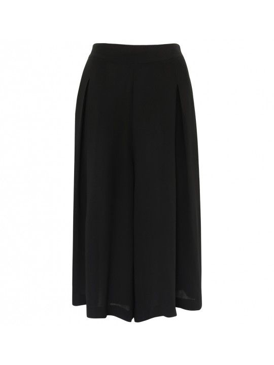 Double Up Relaxed Wide-Leg Culottes