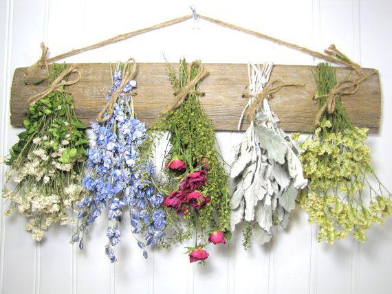 Dried Flower Rack Dried Floral Arrangement Wall Decor