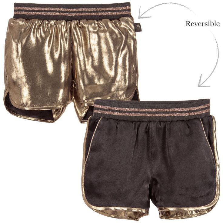Little Marc Jacobs Girls Reversible Gold Shorts  at Childrensalon.com
