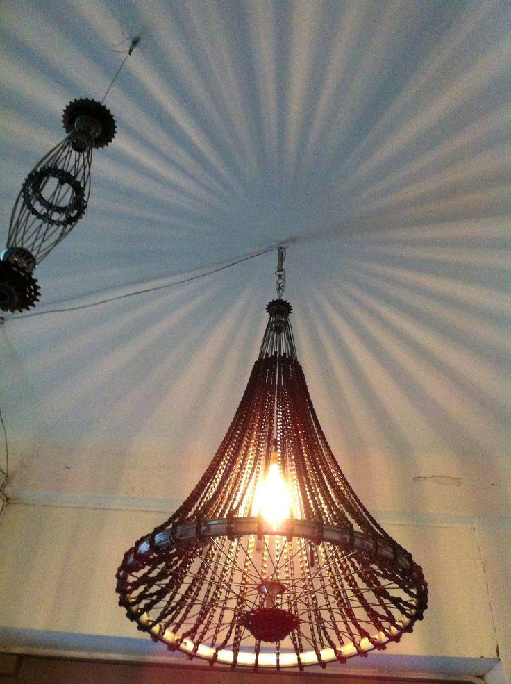25 best Lamps made of bike parts / Lámparas hechas de partes de ...