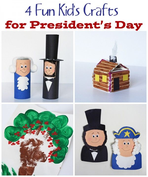 4 Fun Crafts for Presidents' Day - Crafts by AmandaTELL HIM THE GOOD And back of the pris