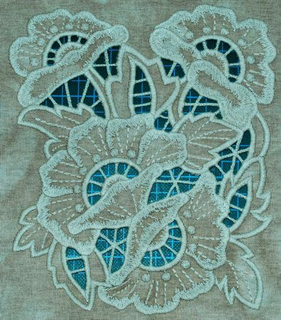 Advanced Embroidery Designs. Free Projects and Ideas. Rose Panel Cutwork Lace machine embroidery design