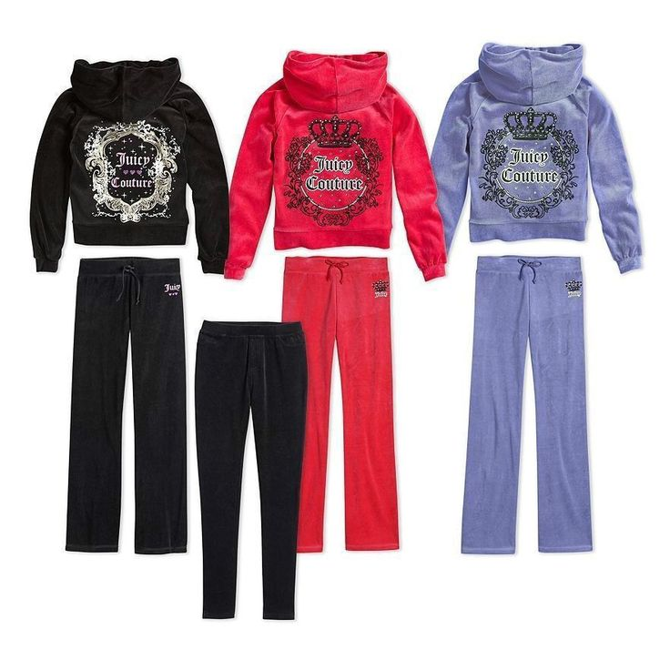 NWT Authentic Juicy Couture Velour Embellished Hoodie and Pants Tracksuits-GIRLS  #JuicyCouture #DressyEverydayHoliday