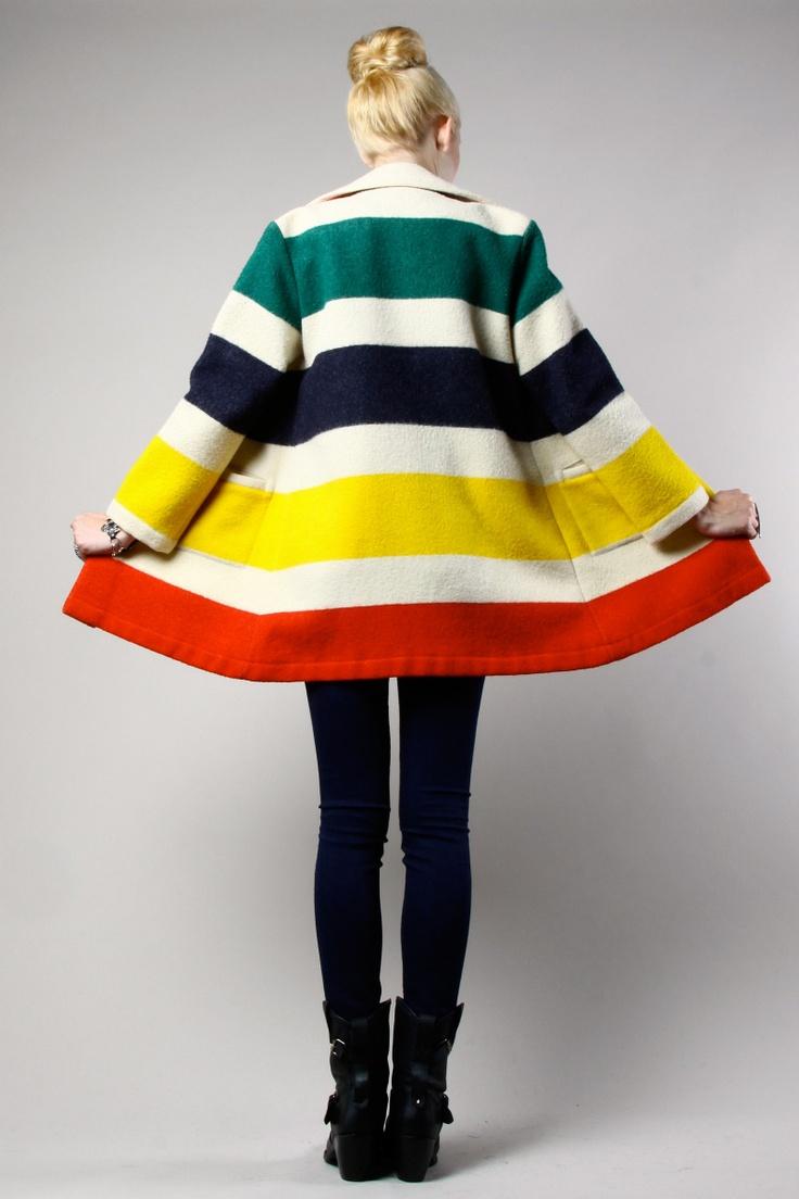 Vintage Pendleton Style Pinterest Wool Coats
